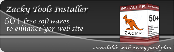 Zacky Tools Installer - 17+ free softwares to enhance your web site.